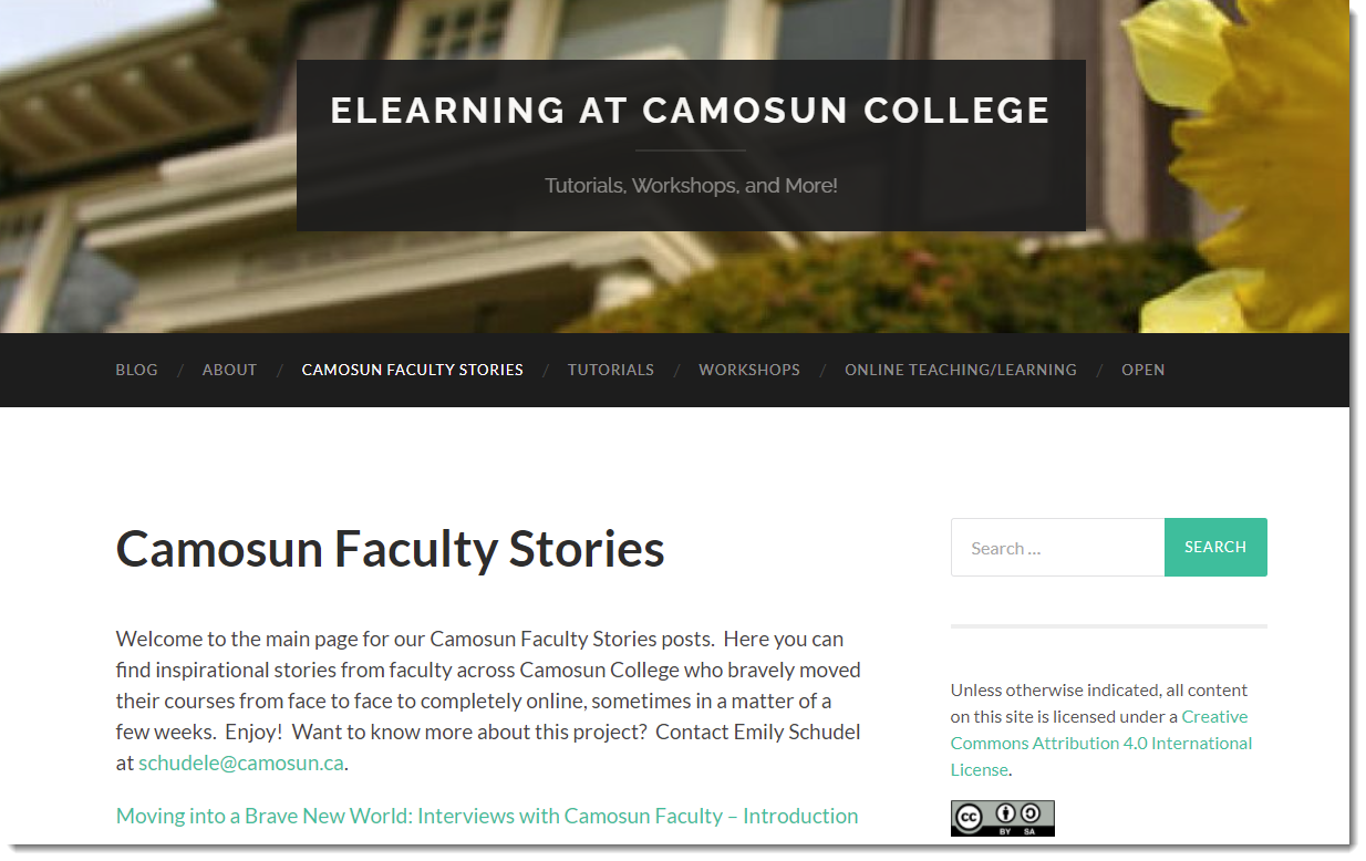 Camosun Faculty Stories Homepage